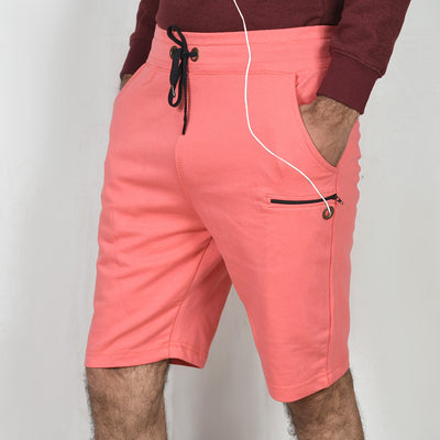 Terry shorts with mobile pocket