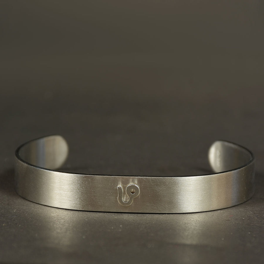 Men Stainless steel Zodiac signs cuff bangle