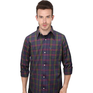 American Eagle Red And Navy Checkered B-Quality Casual Shirt - Deeds.pk