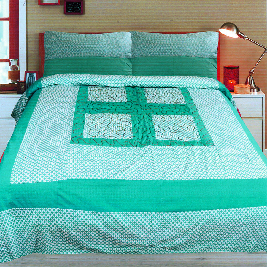 Funky's Abstract Center Patched Bed Sheet