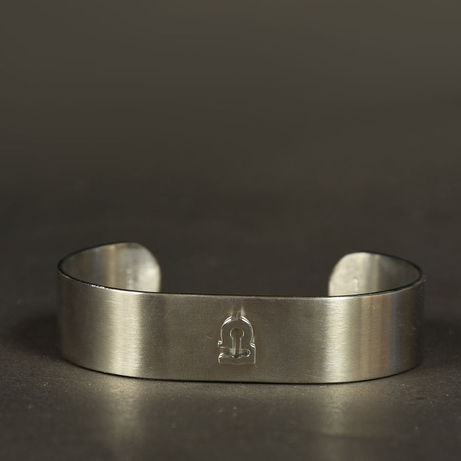 Minimalist Stainless Zodiac Signs Cuff Bangle
