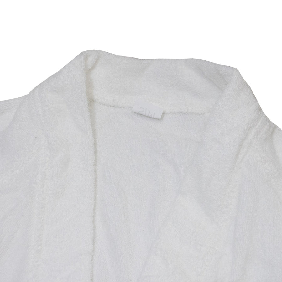 SM Statis White Bathrobe