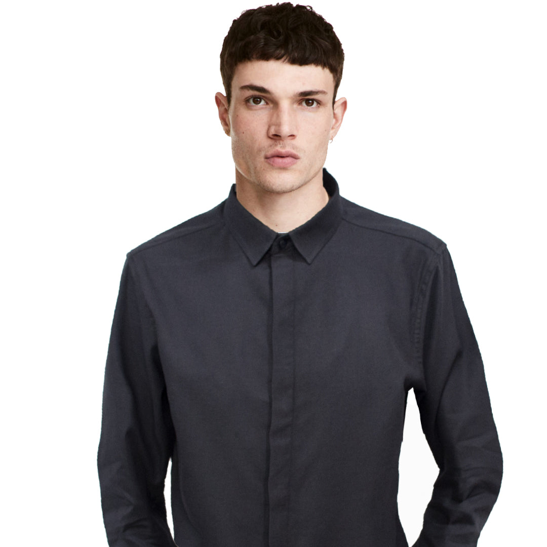Datch Black Long Sleeves Casual Shirt