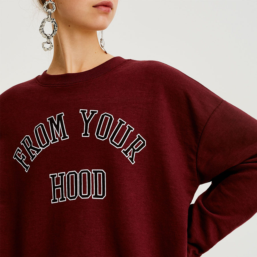 Pull & Bear From your hood slogan Sweatshirt