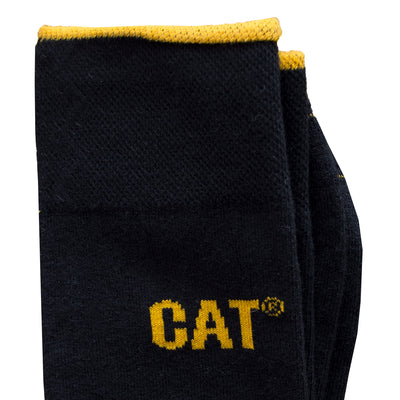 CAT Mercerized One Pair Black Socks - Deeds.pk