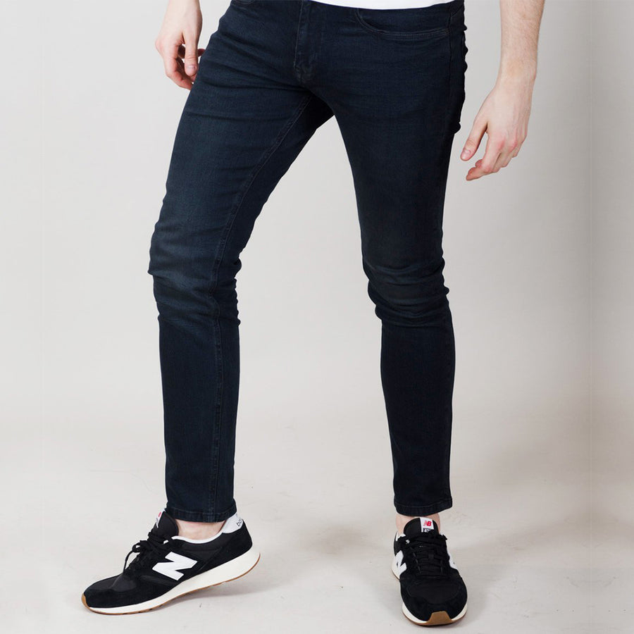 Voi HJ 8500 Tapered Stretch Jeans - Blue Black