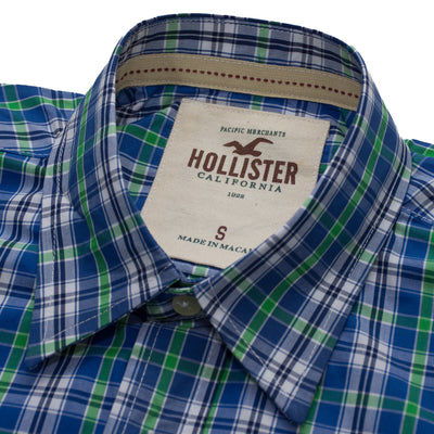 Hollister Green & Blue Checkered Casual Shirt - Deeds.pk