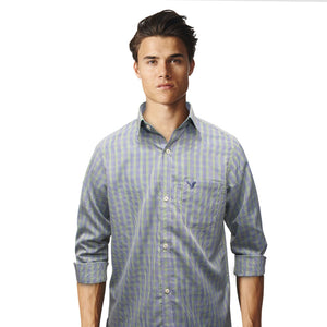 American Eagle Green & Blue Checkered B-Quality Casual Shirt - Deeds.pk