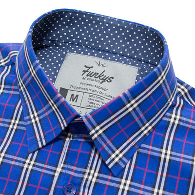 Funkys  Checkered Long Sleeves B-Quality Casual shirt