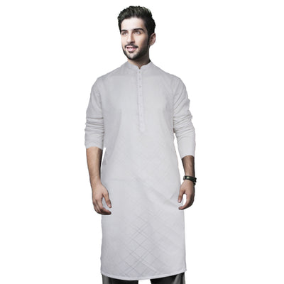 Funkys White Striped Tailored Kurta - Deeds.pk