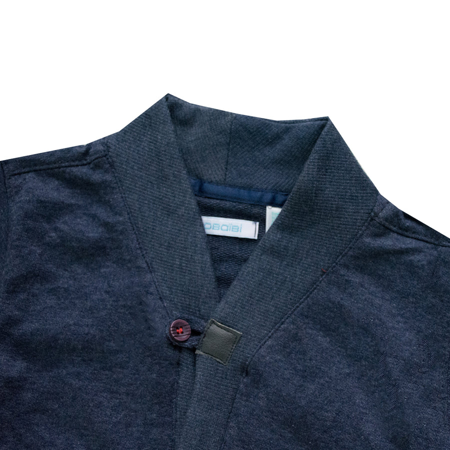 Kid's Navy Double Pocket Cardigan Sweater (12 Months to 4 Years)