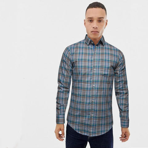 Funkys Green & Blue Checkered Casusal Shirt