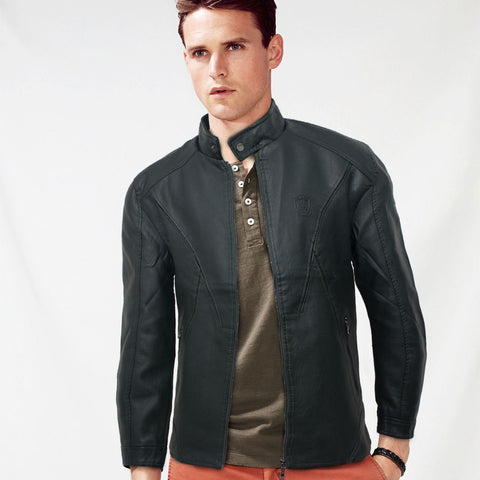 Massimo Dutti Swish Leather Biker Jacket