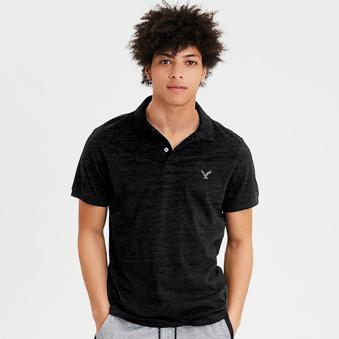 c5777dca American Eagle Charcoal Slub Polo Shirt - Deeds.pk