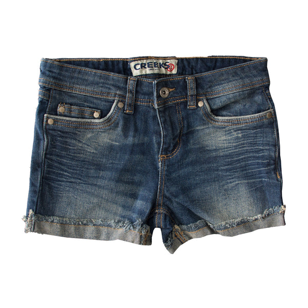 Creeks Dirty Blue Shorts - Deeds.pk