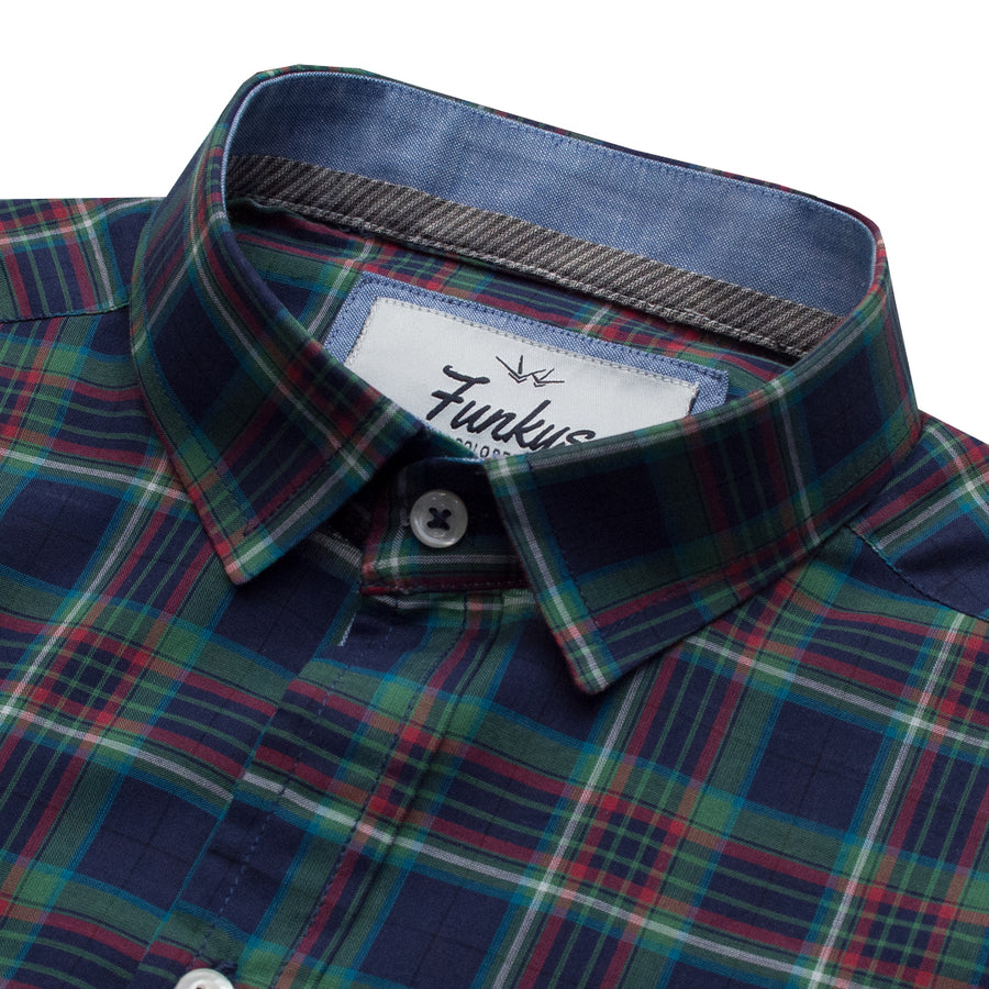 Funkys Multi Color Check Casual Shirt