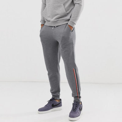 P & B Striped Dark Grey Jogger Pant
