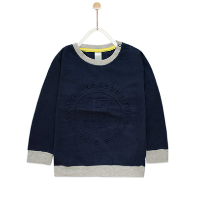 Navy Sweat Shirt ( 2 MONTHS TO 18 MONTHS  )