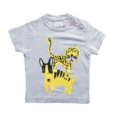 Zara Baby Boy Grey T-shirt - Deeds.pk