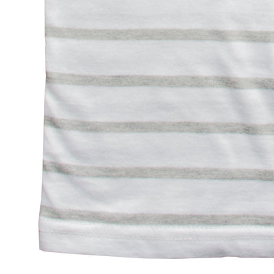 White With Grey Stripes T-Shirt - Deeds.pk