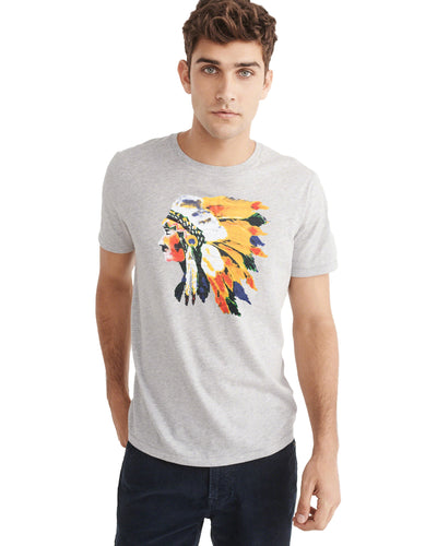 Abercrombie & Fitch Light Grey Crew Neck  T-Shirt - Deeds.pk