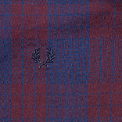 Fred Perry Navy Checkered Casual Shirt - Deeds.pk