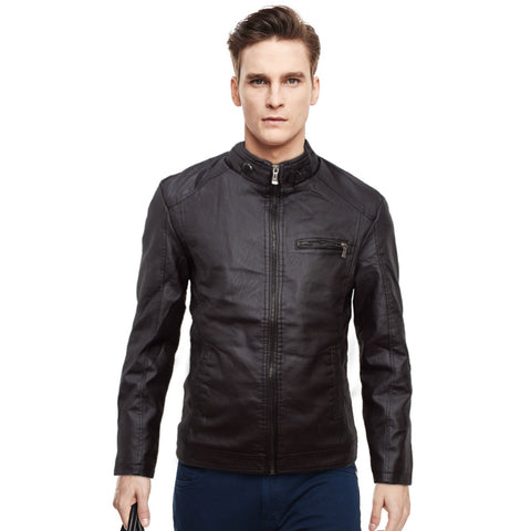 J.Hudu Leather Biker Jacket