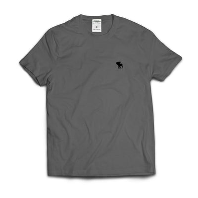 Kids Abercrombie Iron Grey Plain T-Shirt - Deeds.pk