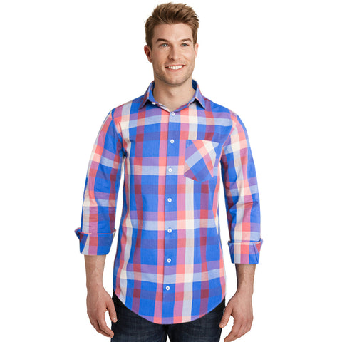 Burton Multi Color Checkered Semi Formal Shirt