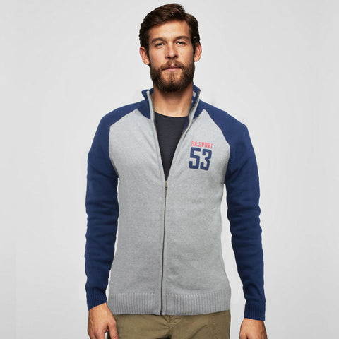 G.A Sports Raglan Sleeves Knitted Zipper
