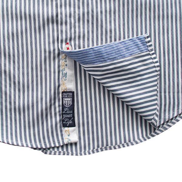Basefield Blue Stripes Casual Shirt - Deeds.pk