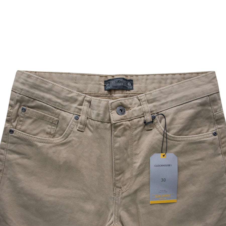 Clock House Skin Normal Rise Slim Shorts - Deeds.pk