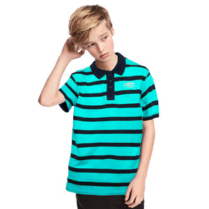 Home State Boy's Striped Polo Shirt