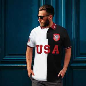 Funkys USA Contrast Color Polo Shirt
