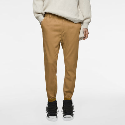 Camel Slim Fit Cotton Jogger Pants - Deeds.pk