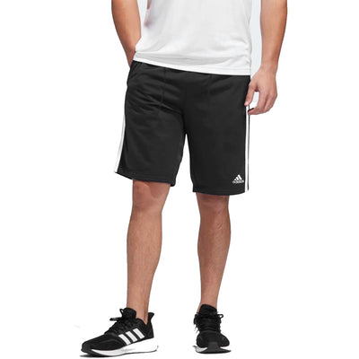 Side Striped Jet Black Shorts