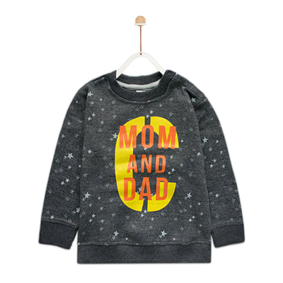 Baby Club All Over Stars Printed Sweat Shirt ( 4 MONTHS TO 18 MONTHS ) - Deeds.pk