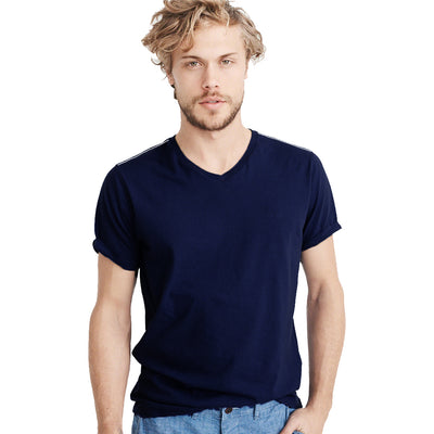Funkys Dark Navy V-Neck T-Shirt