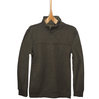 ARW Cut Label Quarter Zipper Brown Sweat Shirt - Deeds.pk