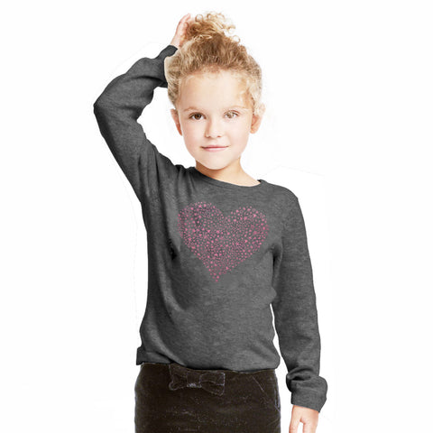 Lefties Kid's Heart Print Sweat Shirt