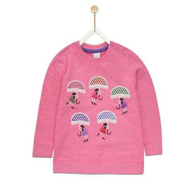 Baby Club Umbrella Printed Sweat Shirt ( 4 MONTHS TO 24 MONTHS ) - Deeds.pk