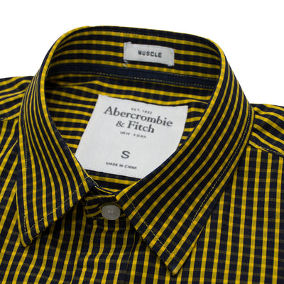 AF Yellow Square Checkered Casual Shirt - Deeds.pk