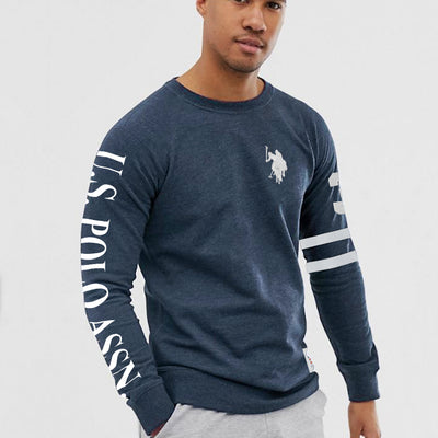 Embroidered logo Blue Sweat Shirt