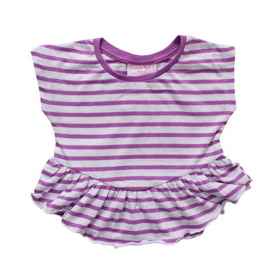 Mango Purple Stripes Top - Deeds.pk