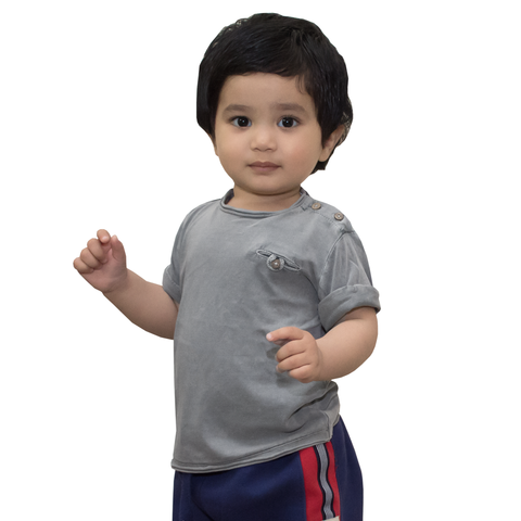 Mango Grey Baby T-Shirt