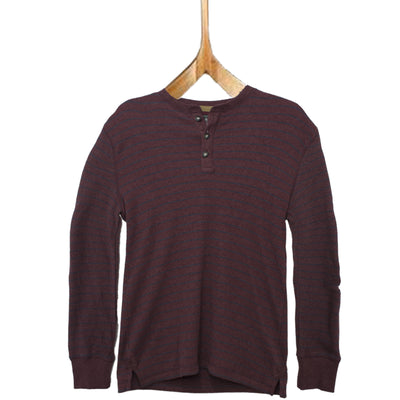 G.H.Bass & Co. Henley Maroon Long Sleeves T-Shirt - Deeds.pk