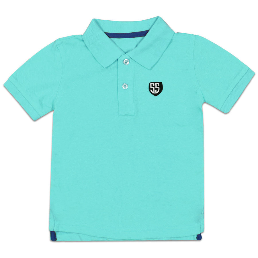 BOYS turquoise PIQUE PRIME POLO SHIRT (1 YEARS TO 6 YEARS)