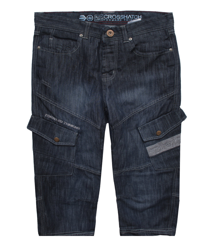 CROSSHATCH Blue Denim Shorts - Deeds.pk