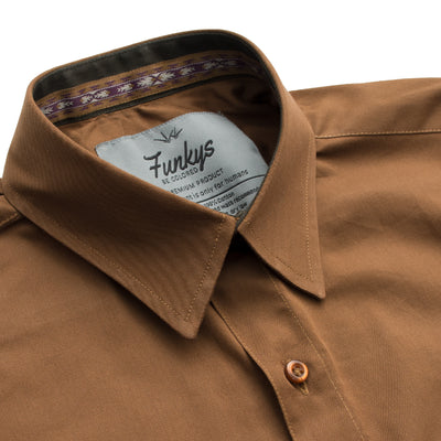 Funkys Mocha Full Sleeves Casual Shirt - Deeds.pk