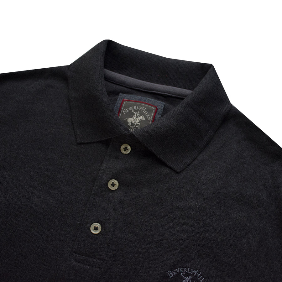 Beverly Hills Polo Club Charocoal Polo Shirt - Deeds.pk